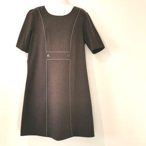 Tommy Hilfiger short sleeve dark gray dress